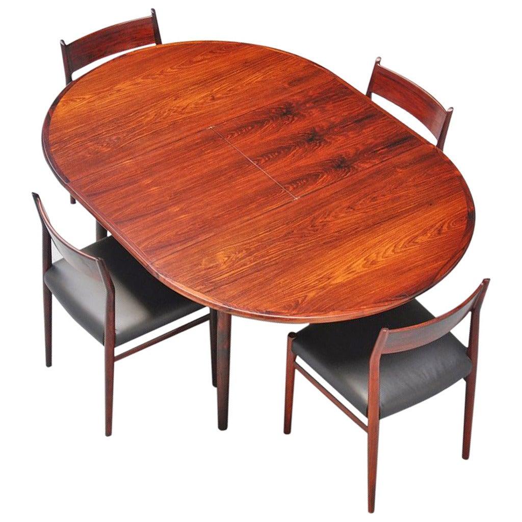 100 danish modern side tables in brazilian rosewood by henr