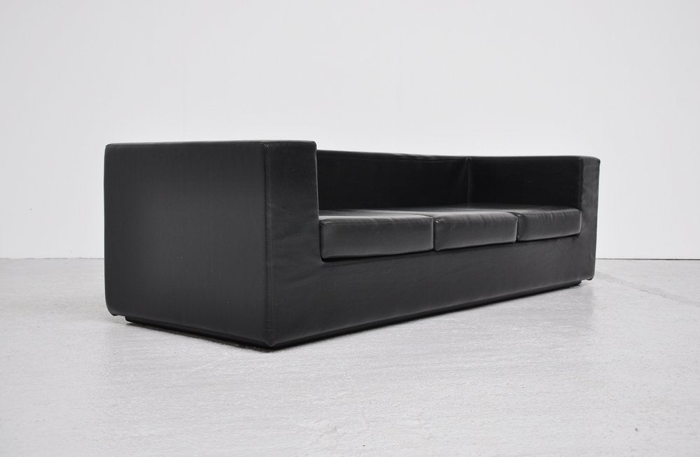 Willie landels throw away sofa zanotta black vynil at 1stdibs for Where to throw away furniture