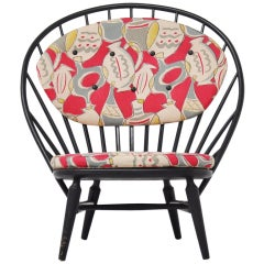Sven Engstrom Arch Chair with Amazing Fabric 1950