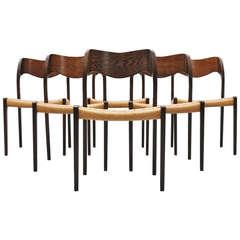 Niels O Moller Model #71 Chairs, Set of Six, 1951