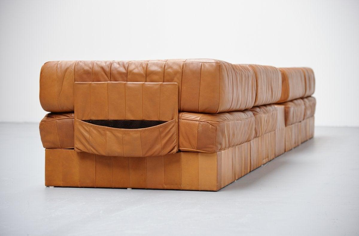 de sede ds88 leather patchwork sofa switzerland 1970 at. Black Bedroom Furniture Sets. Home Design Ideas
