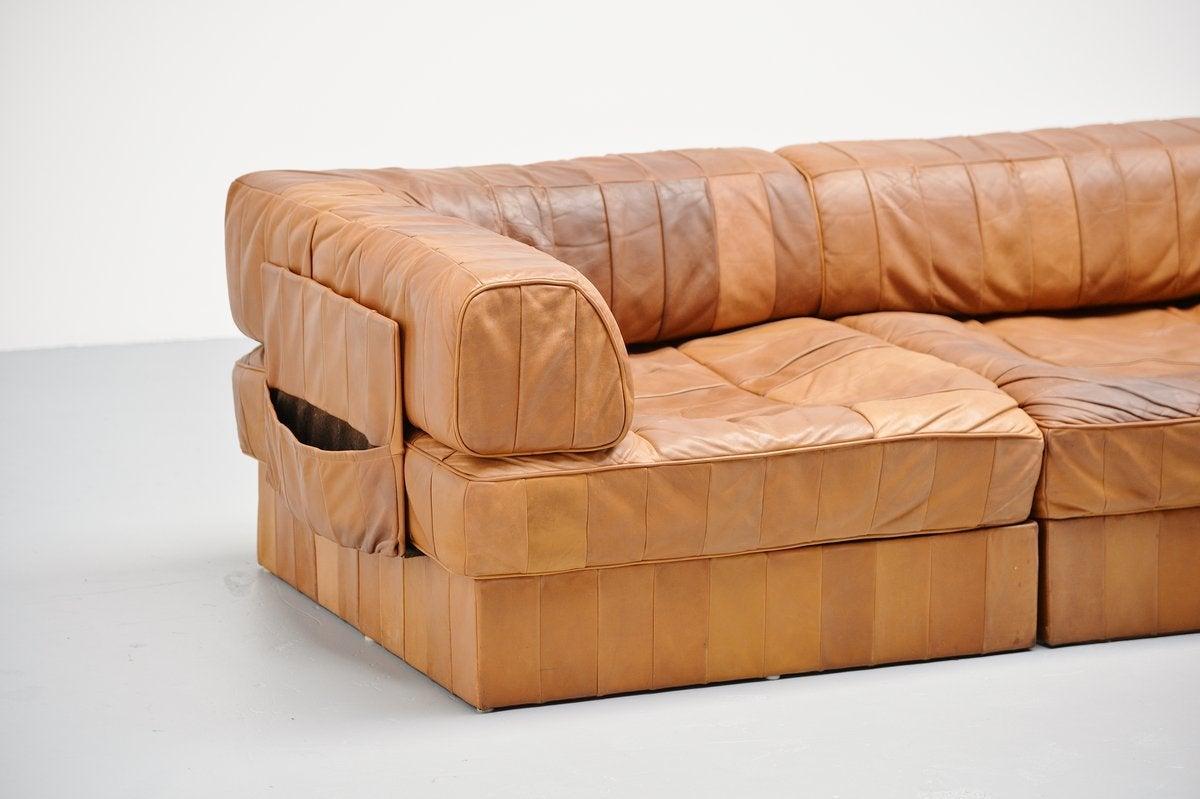 de sede ds88 leather patchwork sofa switzerland 1970 at 1stdibs. Black Bedroom Furniture Sets. Home Design Ideas