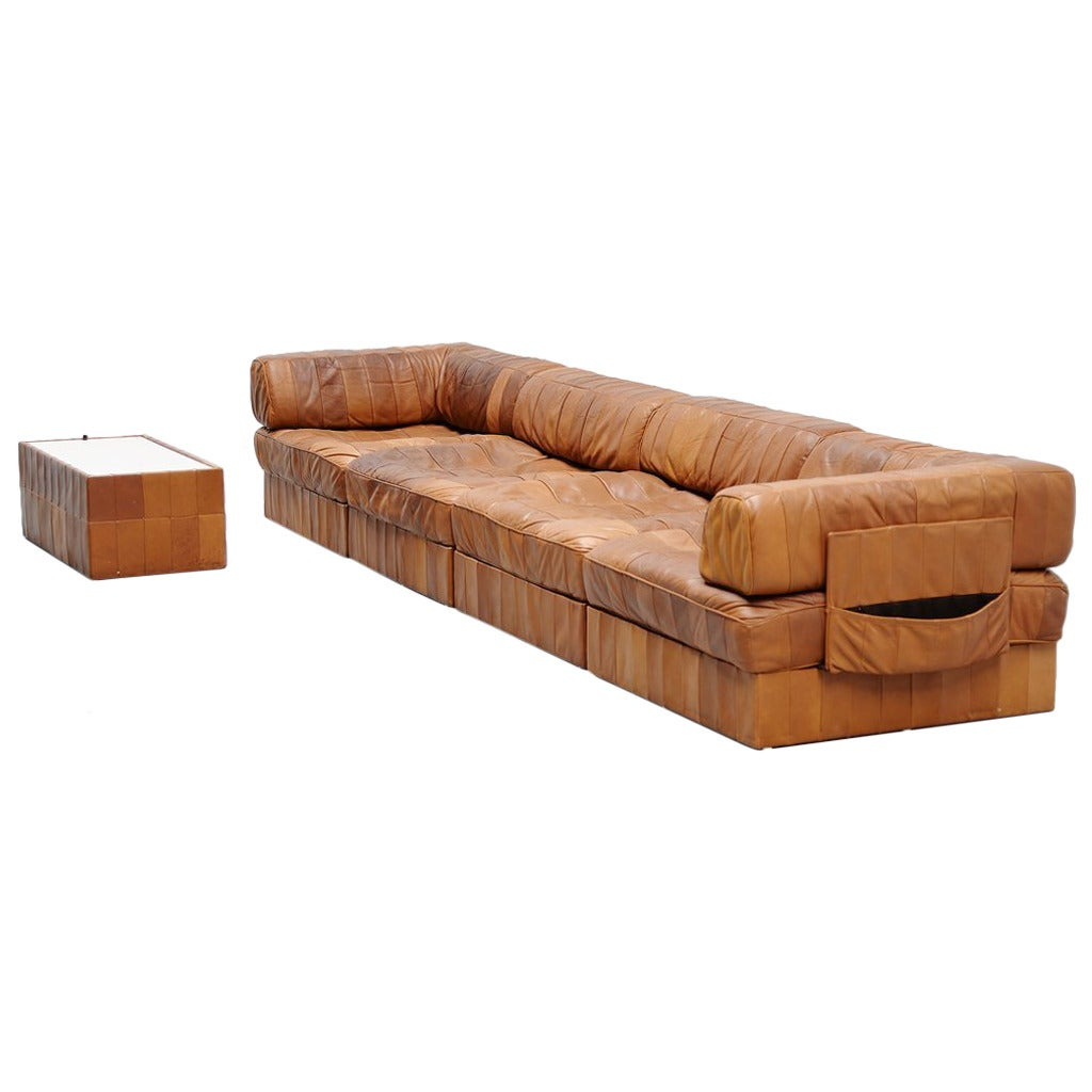 De Sede DS88 Leather Patchwork Sofa, Switzerland 1970 At