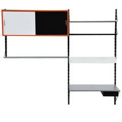 Pilastro Bookcase Unit and Desk by Tjerk Reijenga, 1960
