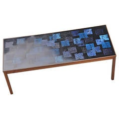 P. Torneman Enameled Coffee Table for Nordiska Kompaniet 1963