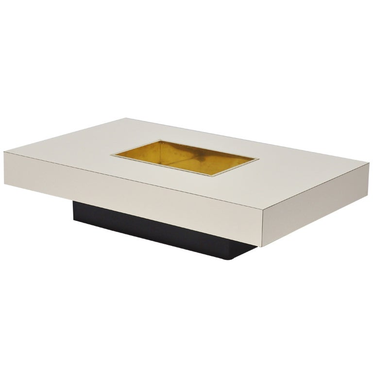 Willy Rizzo Coffee Table By Mario Sabot Italy At 1stdibs