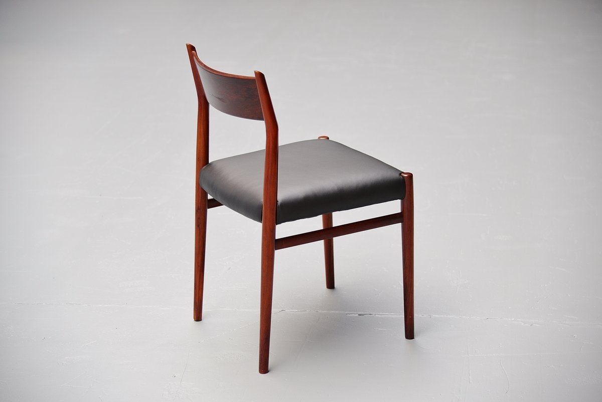 arne vodder dining chairs model 418 sibast mobler 1965 at 1stdibs. Black Bedroom Furniture Sets. Home Design Ideas