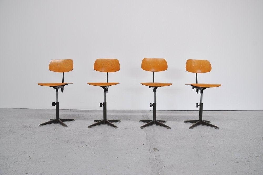 Friso Kramer Drafting Chair Set Ahrend At 1stdibs