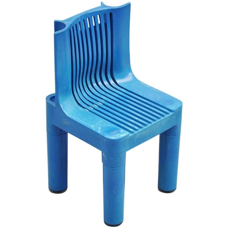 Marco Zanuso Plastic Kids Chair For Kartell, 1964