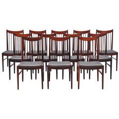 Arne Vodder High Back Dining Chairs Sibast, 1960
