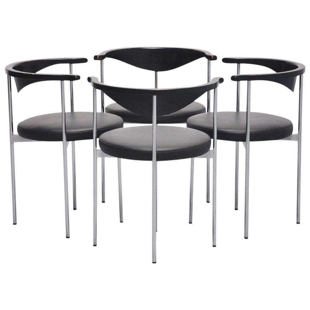frederik sieck dining chairs for fritz hansen 1960 at 1stdibs. Black Bedroom Furniture Sets. Home Design Ideas