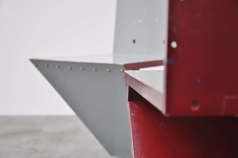 Gerrit Rietveld Zig Zag chair pair G.A. v.d. Groenekan 1961 For Sale 1