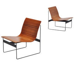 Gunter Renkel Plywood Lounge Chairs for Rego, Germany, 1959