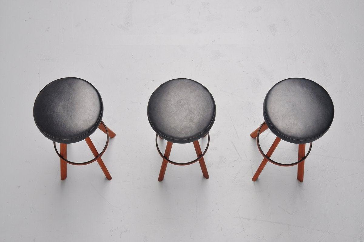 Hans Olsen bar stools for Frem Rojle Denmark 1960 6