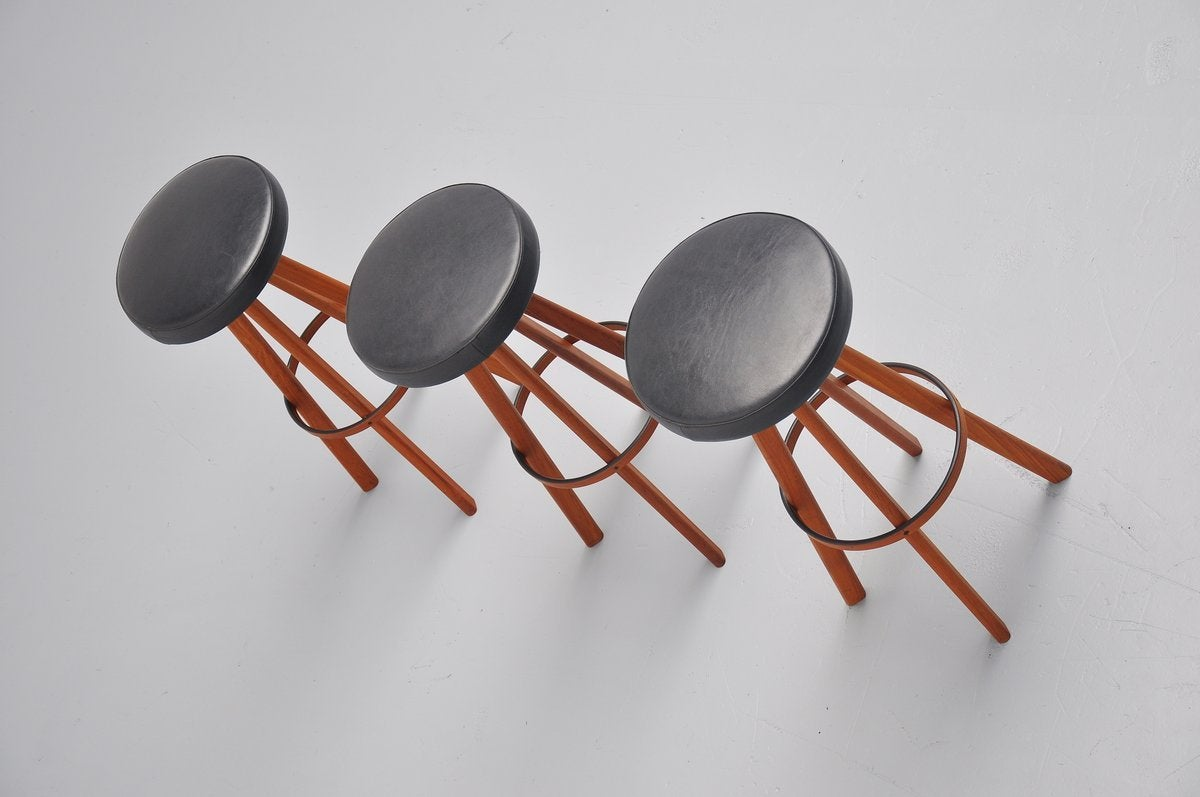 Hans Olsen bar stools for Frem Rojle Denmark 1960 7