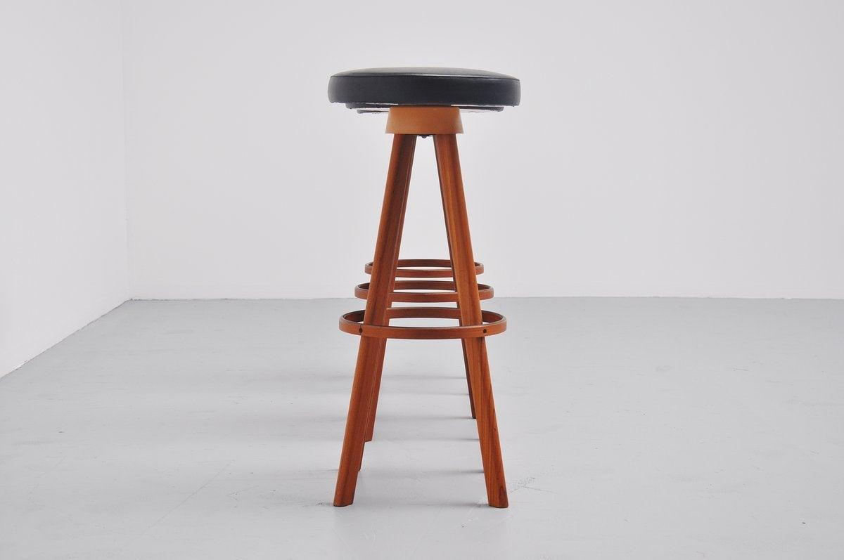 Hans Olsen bar stools for Frem Rojle Denmark 1960 4