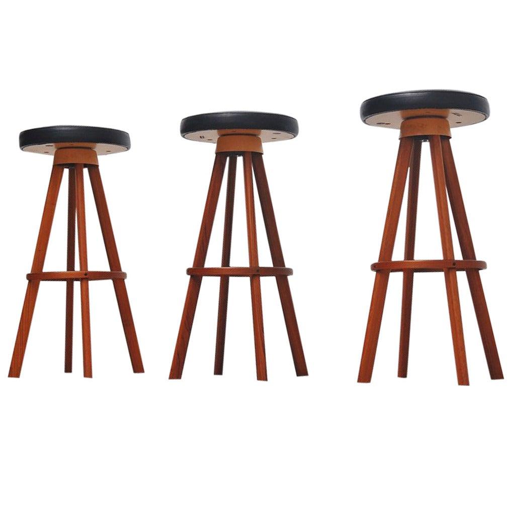 Hans Olsen bar stools for Frem Rojle Denmark 1960 1