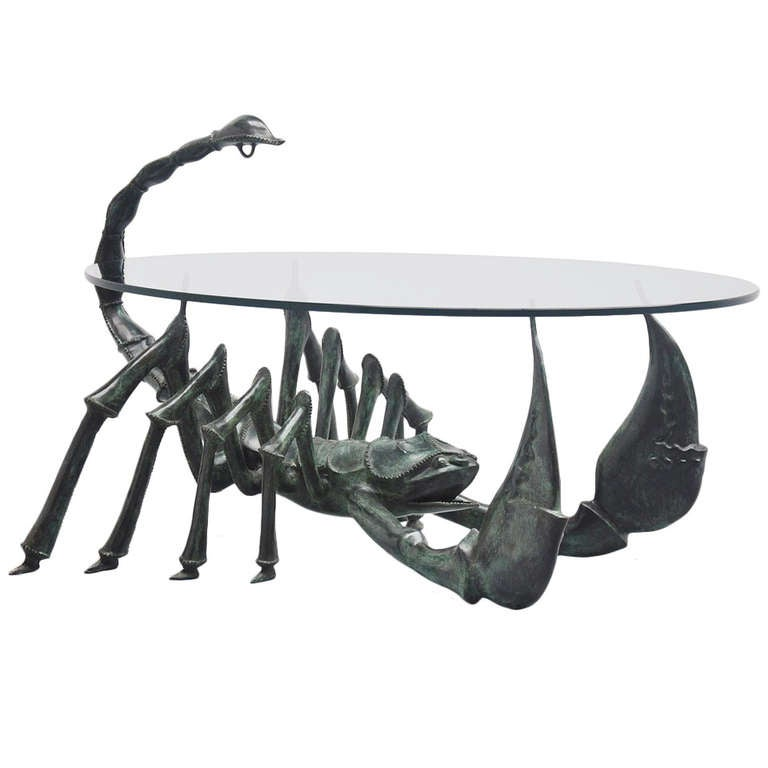 Jacques Duval-Brasseur Attributed Scorpion Coffee Table, France, 1970