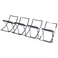 Marcello Cuneo Luisa Folding Chair Set, Italy, 1970