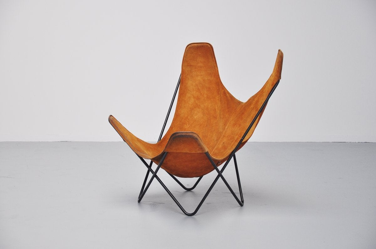 butterfly chair by jorge hardoy ferrari for knoll 1970 for sale at 1stdibs. Black Bedroom Furniture Sets. Home Design Ideas
