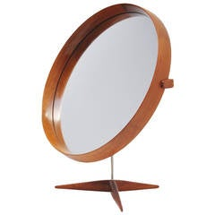 Uno and Osten Kristiansson Luxus table mirror Sweden 1960