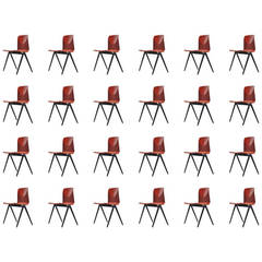 124+ Pagholz Industrial Stacking Chairs, 1970