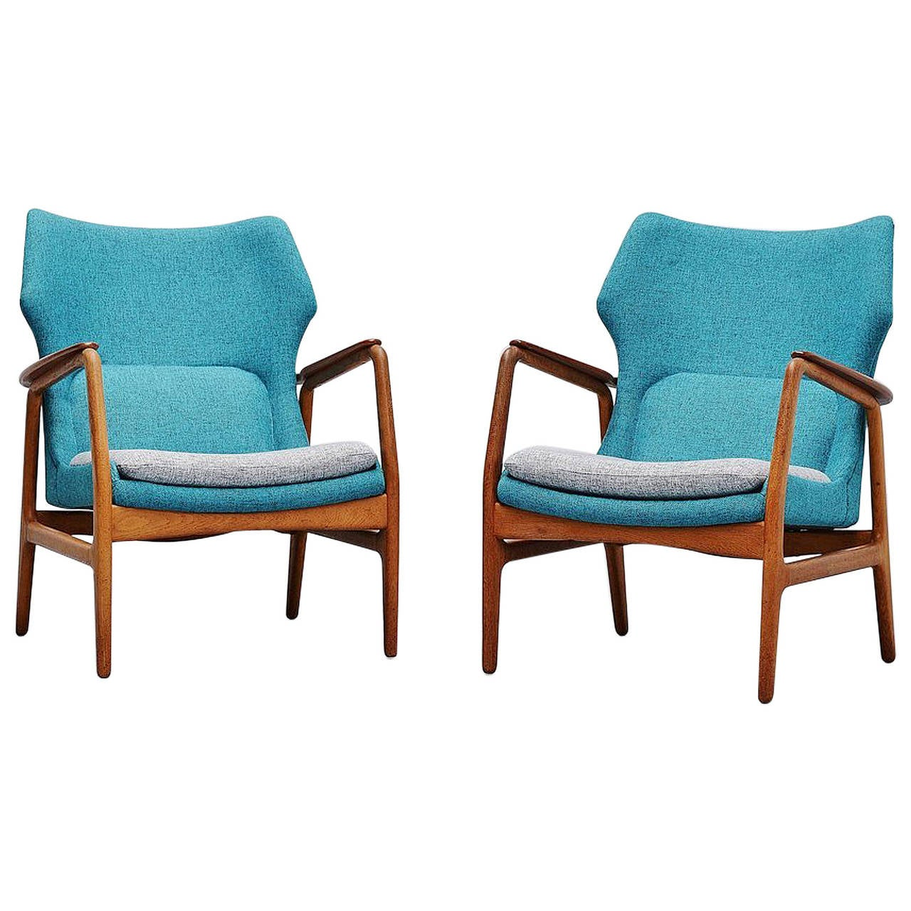 Aksel Bender Madsen Bovenkamp Lounge Chairs, Pair, 1960 For Sale at ...