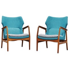 Aksel Bender Madsen Bovenkamp Lounge Chairs, Pair, 1960