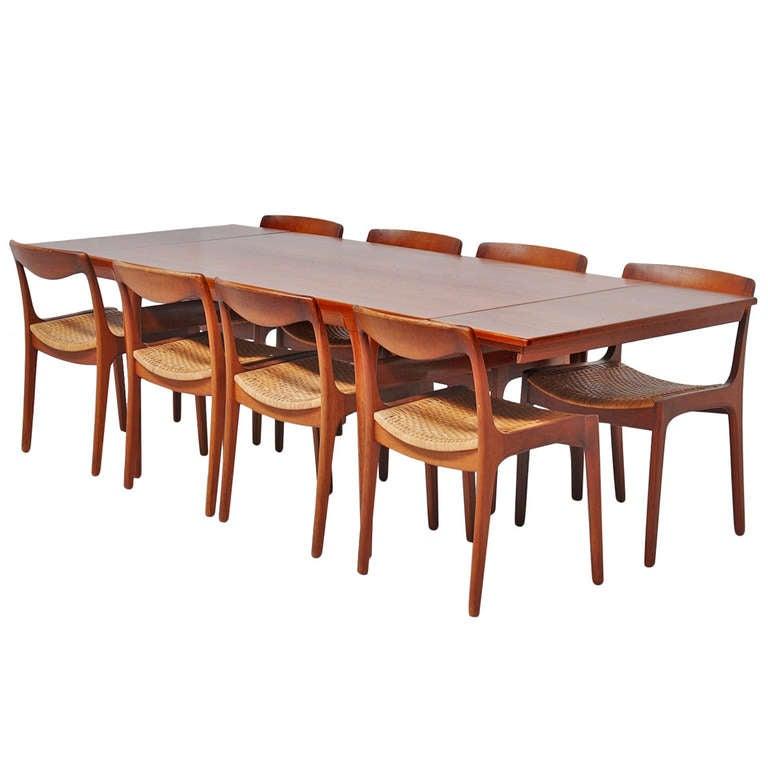 Dining Table Teak Dining Table With Hidden Leaves