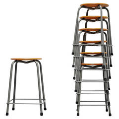 Large industrial stool set by Ahrend de Cirkel, Holland 1970