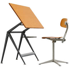 Wim Rietveld Friso Kramer Drafting Table, 1963