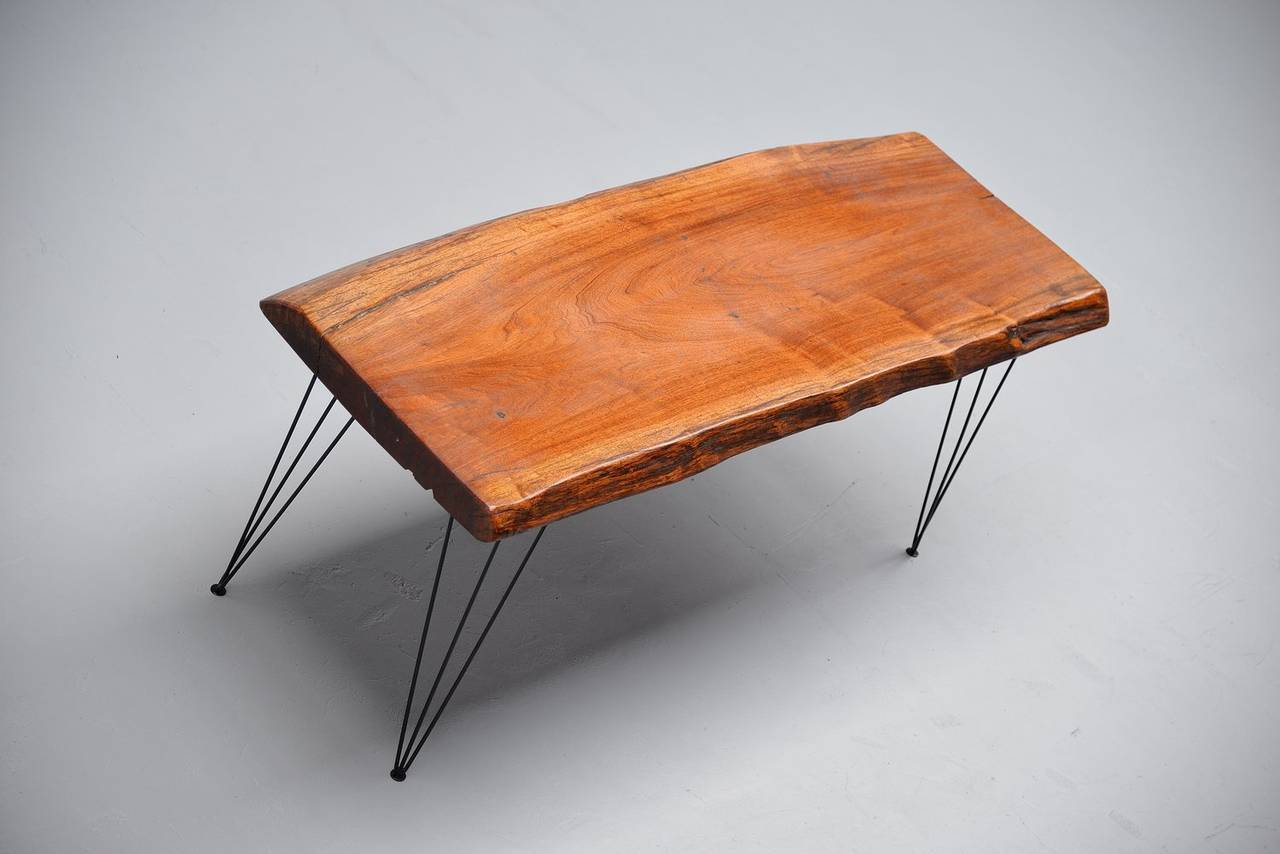 Tree Trunk Table with Hairpin Legs