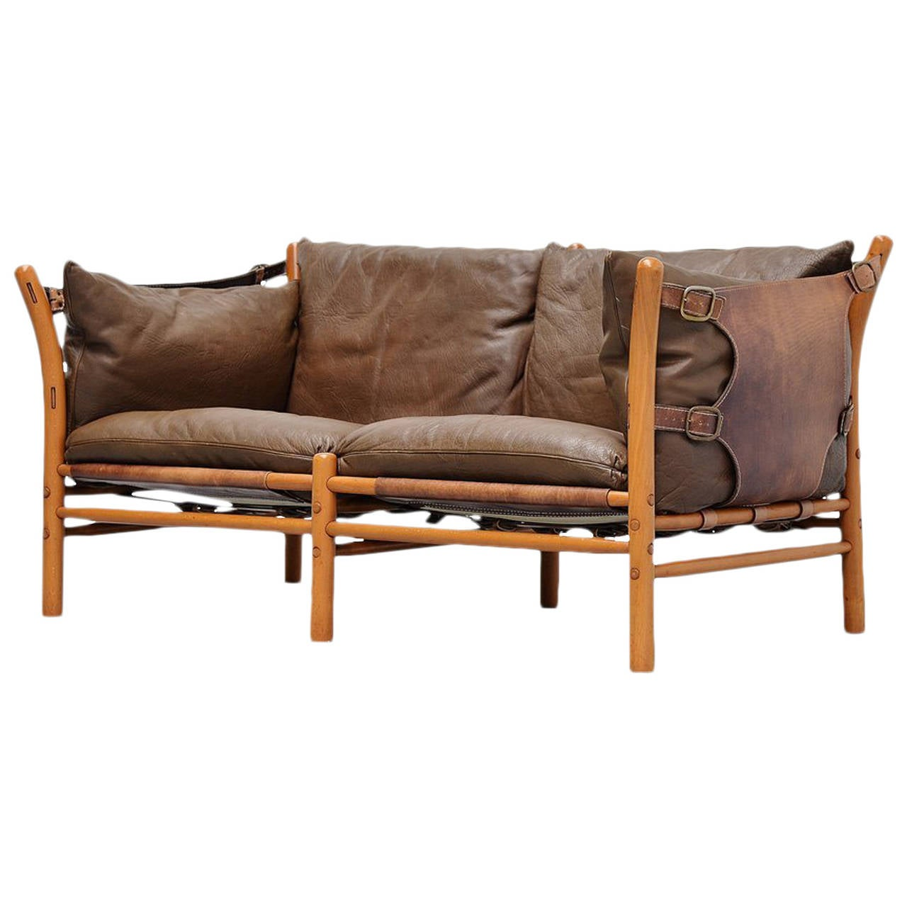 Arne norell ilona two seat sofa sweden 1960 at 1stdibs for Schwedensofa
