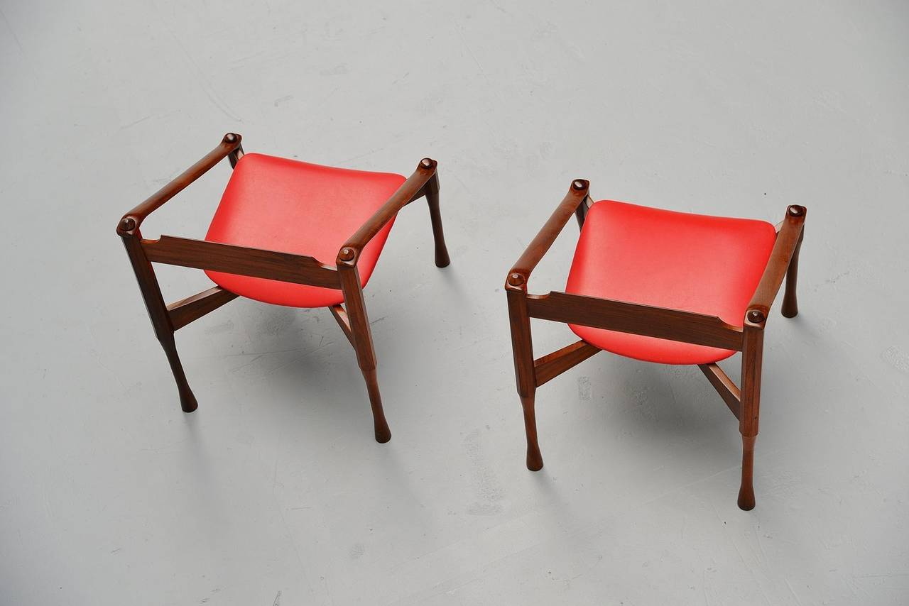 Pair of Giulio Moscatelli Lounge Chairs, Italy, 1950 In Excellent Condition For Sale In Roosendaal, Noord Brabant