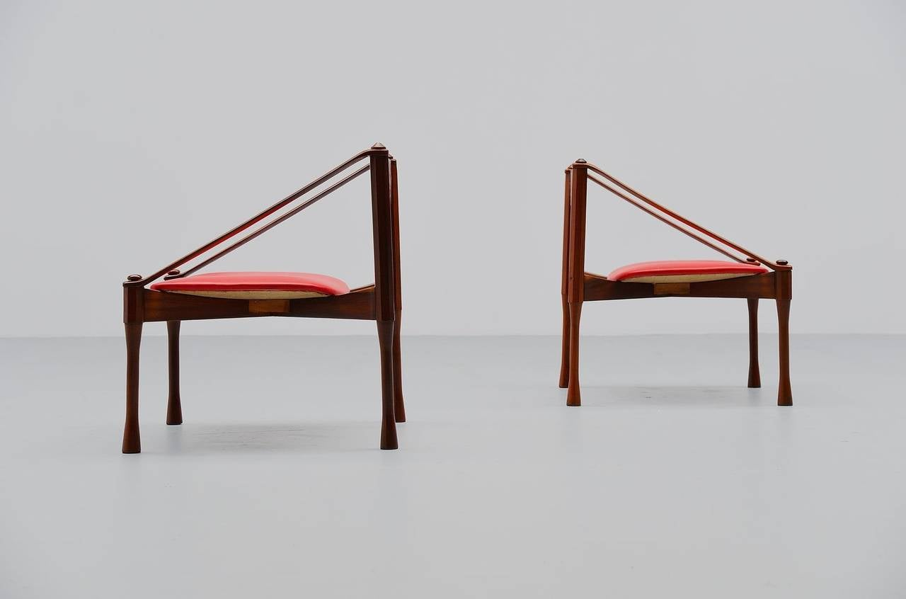 Pair of Giulio Moscatelli Lounge Chairs, Italy, 1950 For Sale 2