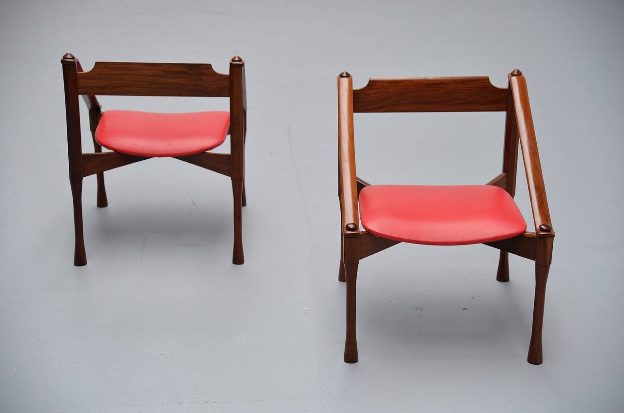 Pair of Giulio Moscatelli Lounge Chairs, Italy, 1950 For Sale 3