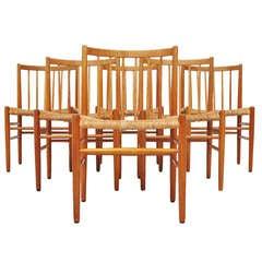 Jorgen Baekmark Fdb Mobler Oak Chairs 1960