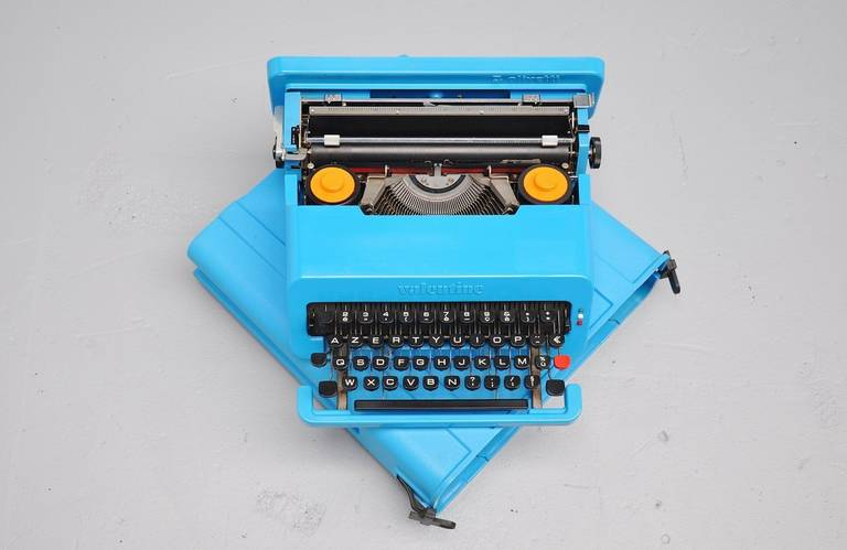 Ultra rare Ettore Sottsass collectable, world known typewriter the Valentine. The valentine typewriter was launched on 14 February, 1969 explains the name 'Valentine.' It was designed by the late Italian architect and designer, Ettore Sottsass, with