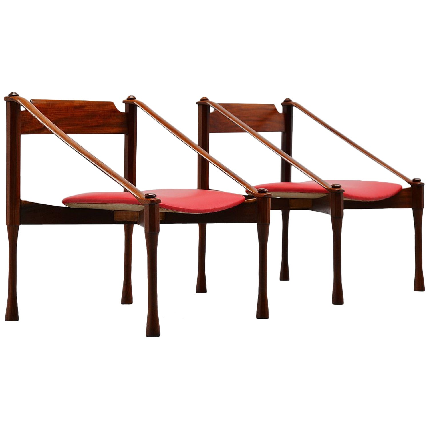 Pair of Giulio Moscatelli Lounge Chairs, Italy, 1950
