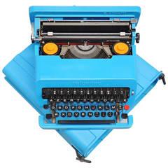 Ettore Sottsass Olivetti Valentine Typewriter in Blue, 1969