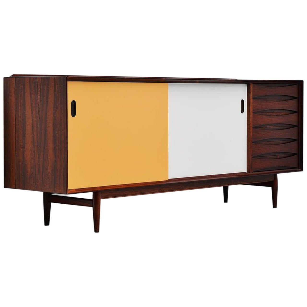 arne vodder rosewood sideboard sibast mobler denmark at 1stdibs. Black Bedroom Furniture Sets. Home Design Ideas