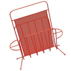 Mathieu Mategot Red Magazine Stand for Artimeta, 1960