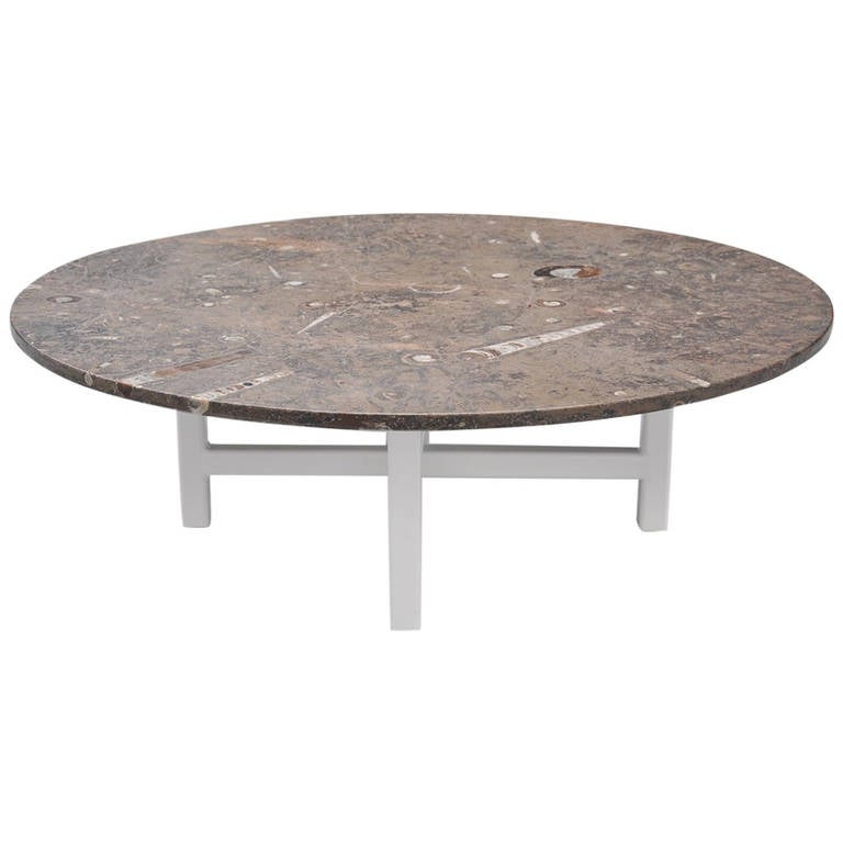 Heinz lilienthal fossil stone coffee table germany 1970 for Fossil coffee table