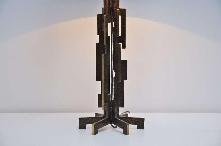 Shop Good Earth Lighting Metropolitan 3 Light Bronze: Bronze Sculptural Table Lamp France 1970 Maison Jansen
