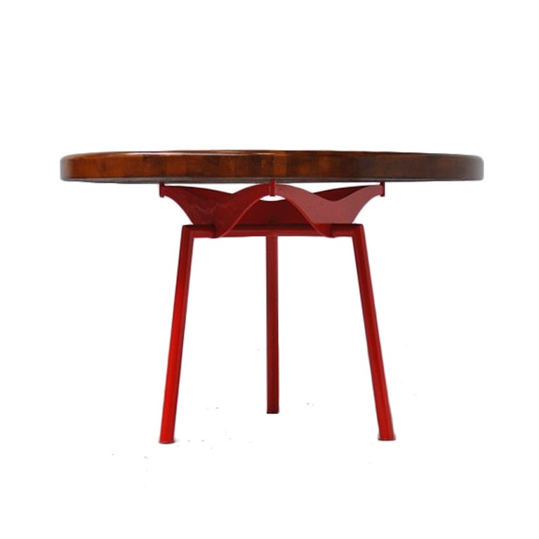 Industrial Prouve Perriand Quality Dining Table At 1stdibs