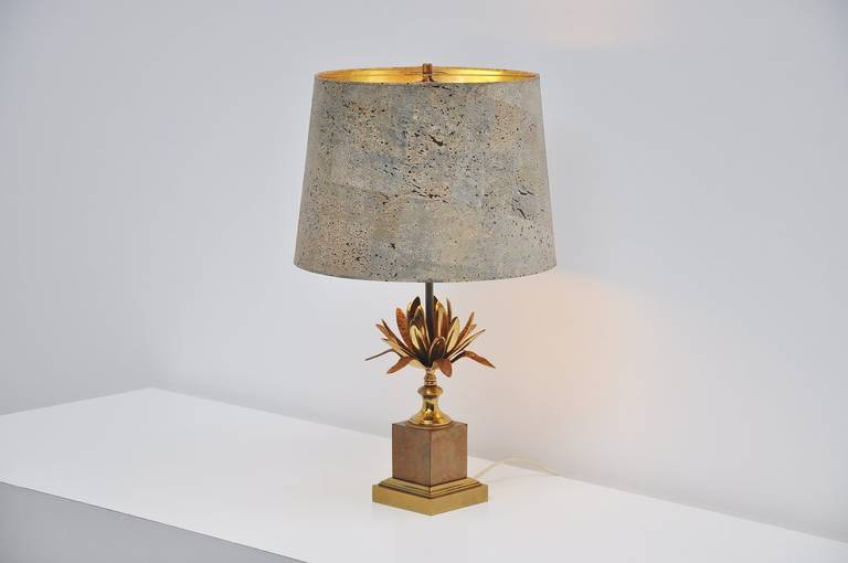 Beautiful French Maison Charles Artichoke Table Lamp France 1970 For Sale