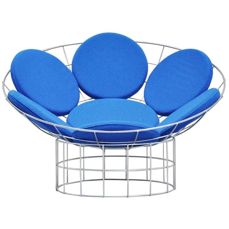verner panton peacock chair plus linje 1960 at 1stdibs. Black Bedroom Furniture Sets. Home Design Ideas