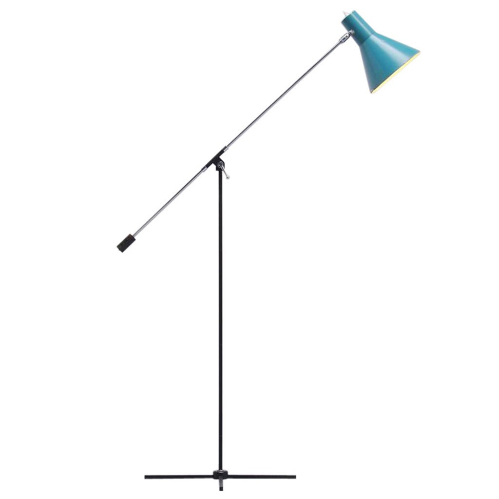 belgian floor lamp with adjustable arm 1960 at 1stdibs. Black Bedroom Furniture Sets. Home Design Ideas