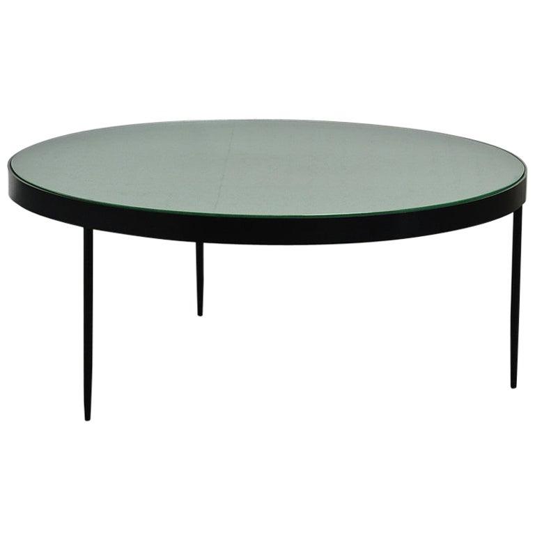 Janni Van Pelt Coffee Table G4 For Bas Van Pelt Metal Frosted Glass At 1stdibs