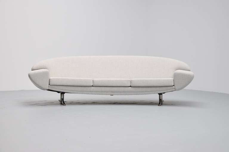Amazing Boomerang Shaped Sofa With New Bright Grey Fabric From Kvadrat Superb Shape And Comfort
